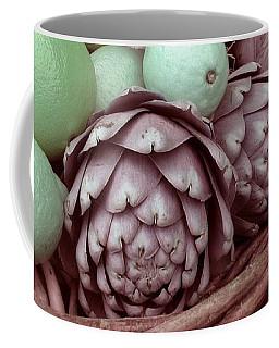 Pink Artichokes With Green Lemons And Oranges Coffee Mug