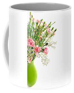 Pink Carnation Flowers Coffee Mug by Vizual Studio