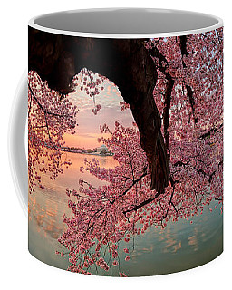 Pink Cherry Blossom Sunrise Coffee Mug