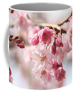 Pink Cherry Blossoms Coffee Mug by Trina  Ansel