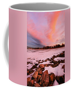 Pink Clouds Over Memorial Park Coffee Mug