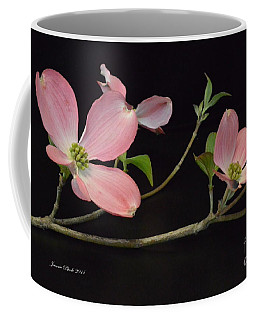 Coffee Mug featuring the photograph Pink Dogwood Branch  by Jeannie Rhode
