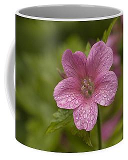 Pink Droplets Coffee Mug by Eunice Gibb