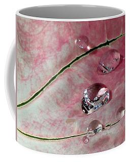 Pink Fancy Leaf Caladium - September Tears Coffee Mug by Pamela Critchlow