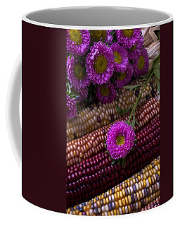 Pink Flower And Corn Coffee Mug
