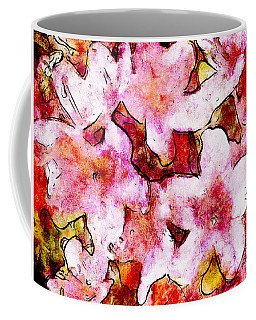 Coffee Mug featuring the painting Pink Flowers 2 by Greg Collins