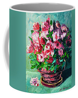 Pink Flowers Coffee Mug by Ana Maria Edulescu