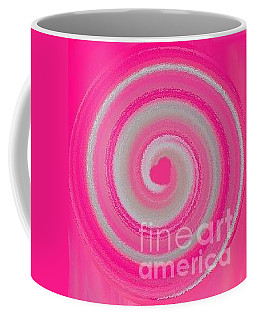 Coffee Mug featuring the digital art Pink Fluff by Catherine Lott