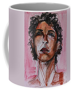 Coffee Mug featuring the drawing Pink  by Gabrielle Wilson-Sealy