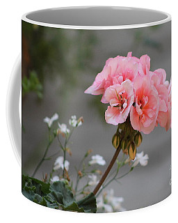 Pink Geranium Coffee Mug by Leone Lund
