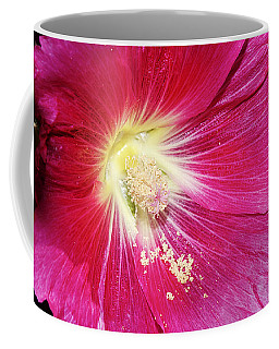 Pink Hollyhock Coffee Mug
