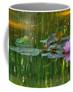 Coffee Mug featuring the photograph Pink Lotus Flower by Beth Sargent