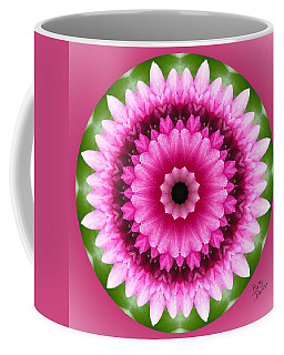 Coffee Mug featuring the photograph Pink Lotus Kaleidoscope by Betty Denise
