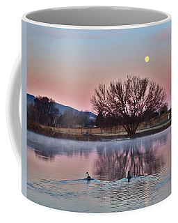 Coffee Mug featuring the photograph Pink Morning by Lynn Hopwood
