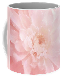 Pink Mum Luminous Painted Blossom Coffee Mug