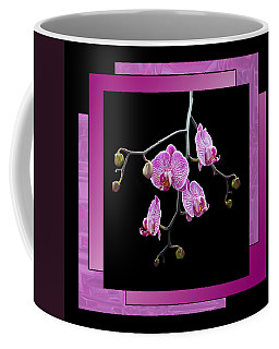 Coffee Mug featuring the photograph Framed Orchid Spray by Patti Deters