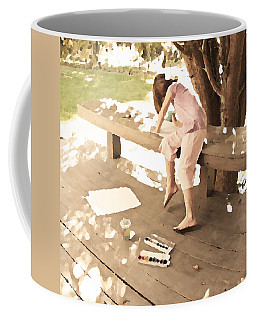Coffee Mug featuring the photograph Pink Painter by Brooke T Ryan