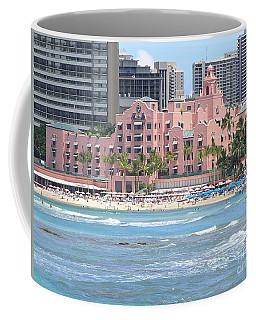 Pink Palace On Waikiki Beach Coffee Mug