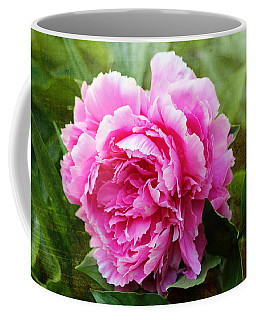 Coffee Mug featuring the photograph Pink Peony by Trina  Ansel