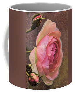 Pink Rose Imp 1 - Artistic Pink Rose With Buddies Coffee Mug