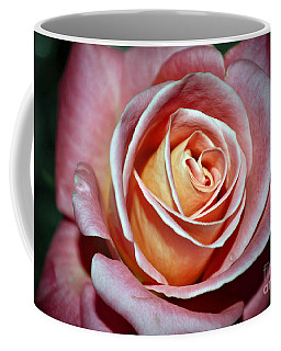 Coffee Mug featuring the photograph Pink Rose by Savannah Gibbs