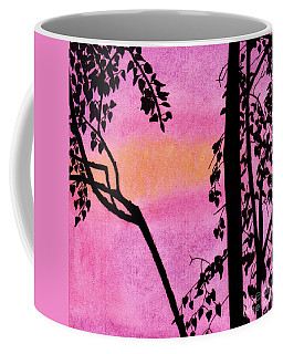 Coffee Mug featuring the drawing Pink Sky Sunset by D Hackett