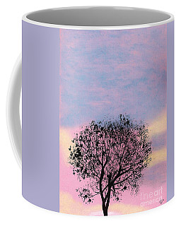 Coffee Mug featuring the drawing Pink Sunset by D Hackett