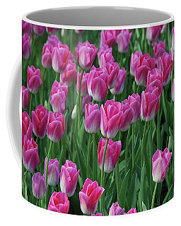 Coffee Mug featuring the photograph Pink Tulips 2 by Allen Beatty