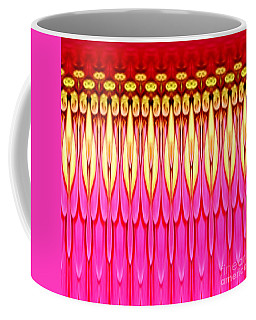 Coffee Mug featuring the photograph Pink Zinnia Polar Coordinate by Rose Santuci-Sofranko