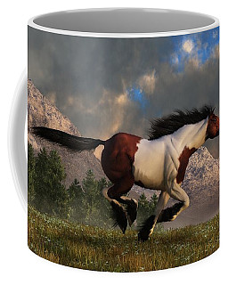 Pinto Mustang Galloping Coffee Mug