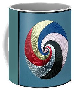 Coffee Mug featuring the mixed media Pinwheel by Ron Davidson