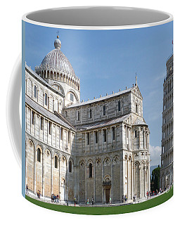 Coffee Mug featuring the photograph Pisa Cathedral And Leaning Tower  by Phil Banks