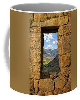 Pisac Ruins Coffee Mug by Alexey Stiop