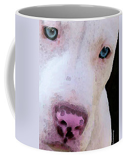 Pit Bull Art - Not A Fighter Coffee Mug