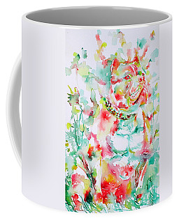Pit Bull In The Garden Coffee Mug