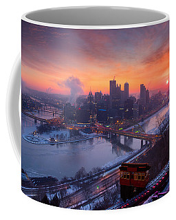 Pittsburgh Skyline Winter 2 Coffee Mug