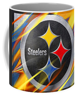 Pittsburgh Steelers Football Coffee Mug by Tony Rubino