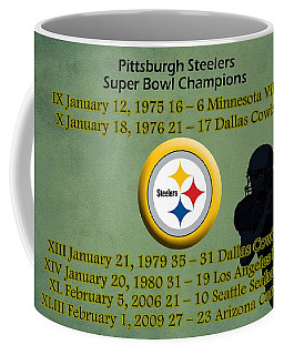 Pittsburgh Steelers Super Bowl Wins Coffee Mug