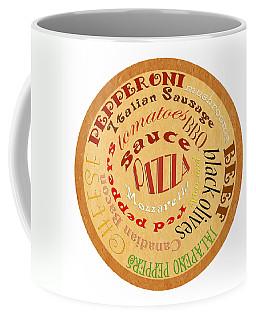 Pizza Typography 2 Coffee Mug