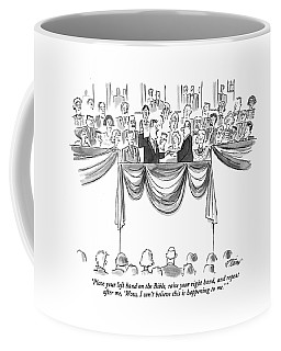 Place Your Left Hand On The Bible Coffee Mug