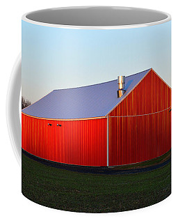 Coffee Mug featuring the photograph Plain Jane Red Barn by Bill Swartwout