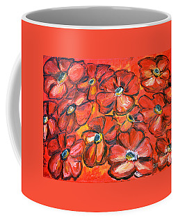 Coffee Mug featuring the painting Plaisir Rouge by Ramona Matei