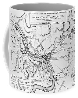Plan Of The Operations Of General Washington Against The Kings Troops In New Jersey Coffee Mug