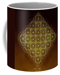 Coffee Mug featuring the drawing Planck Space Time  by Jason Padgett