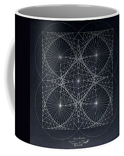 Coffee Mug featuring the drawing Plancks Blackhole by Jason Padgett