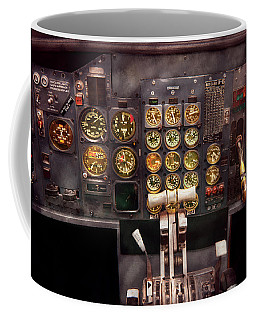 Plane - Cockpit - Boeing 727 - The Controls Are Set Coffee Mug by Mike Savad
