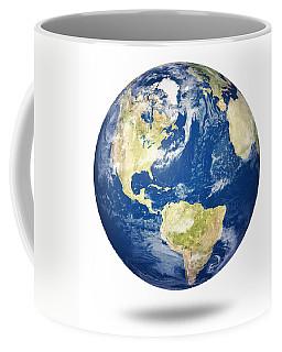 Planet Earth On White - America Coffee Mug