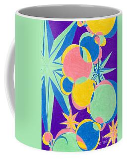Planets And Stars Coffee Mug by Kim Sy Ok