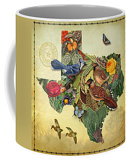 Nature Map Of Texas Coffee Mug