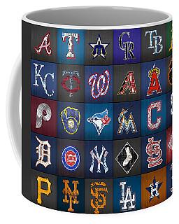 Play Ball Recycled Vintage Baseball Team Logo License Plate Art Coffee Mug